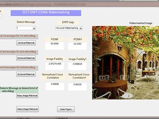 Digital Image Watermarking using Optimized DWT-DCT