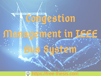 Congestion management in IEEE bus system